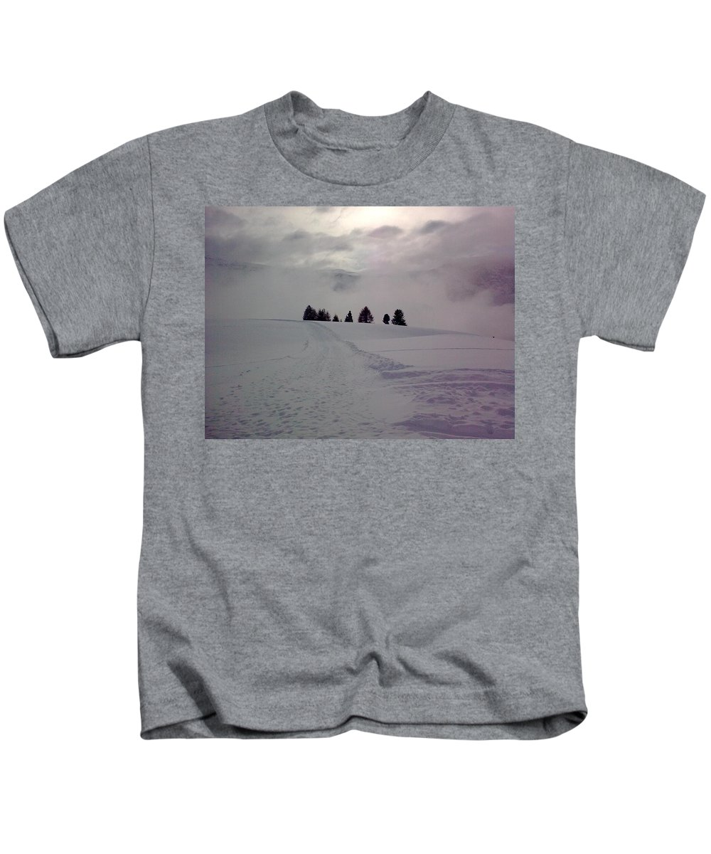Landscape Kids T-Shirt featuring the photograph Forlorn Trees by Valerie Ornstein
