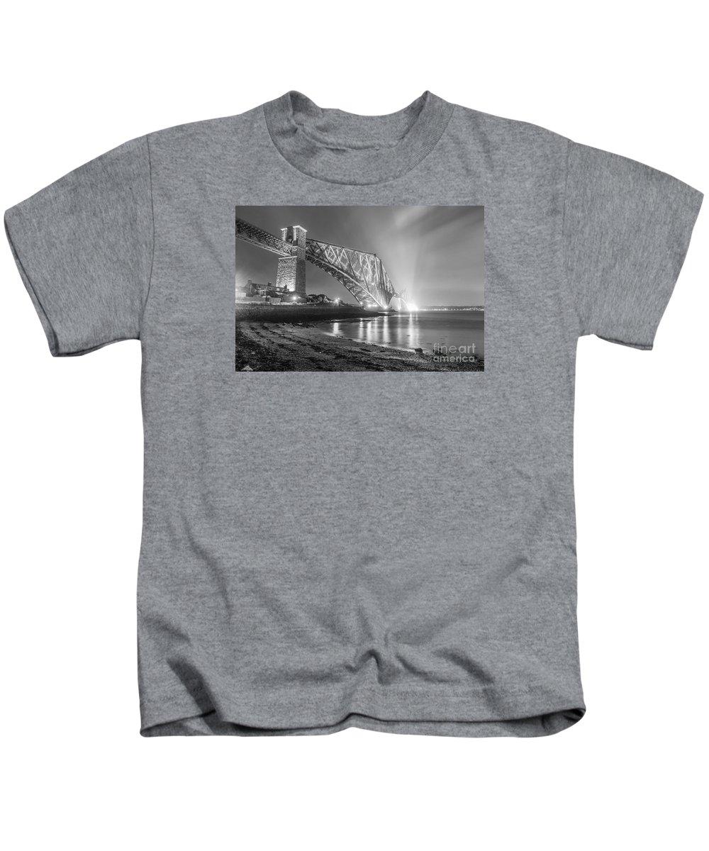 Scottish Kids T-Shirt featuring the photograph Forth Bridge Landscape by Valerio Poccobelli