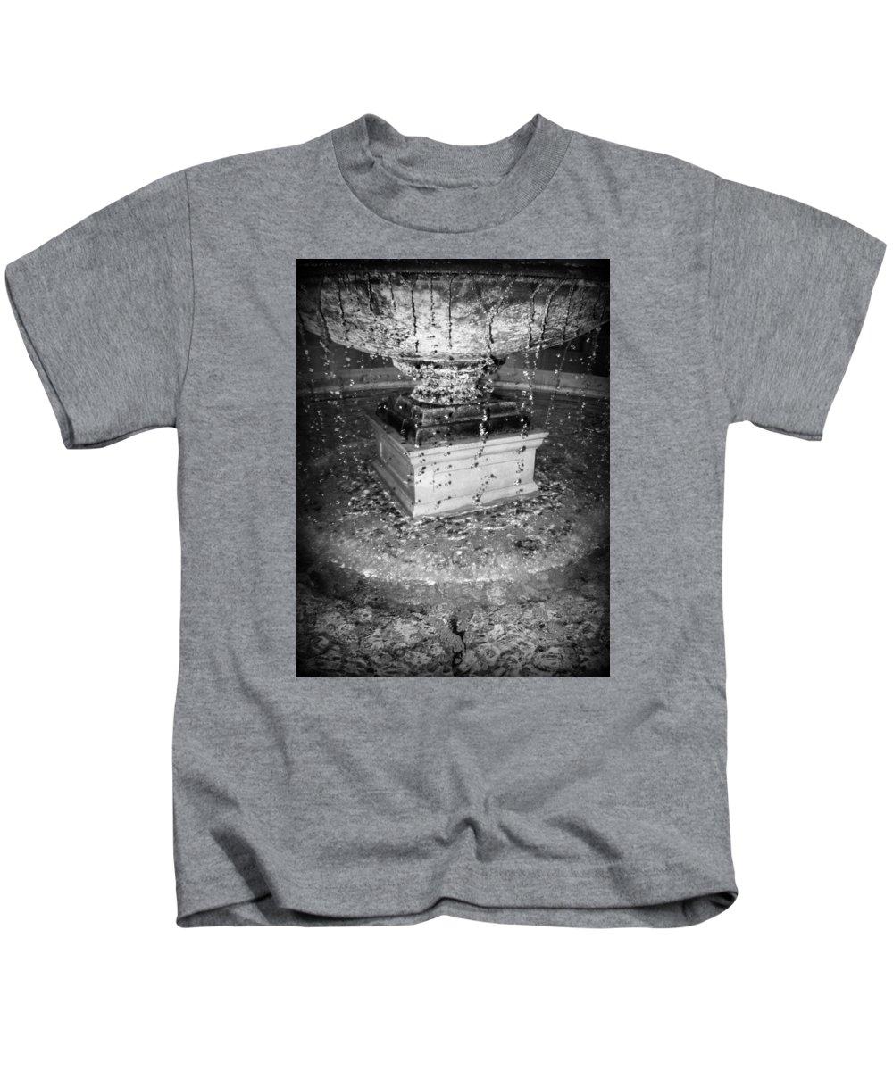 Art Kids T-Shirt featuring the photograph Fountain Flow by WanderBird Photographi