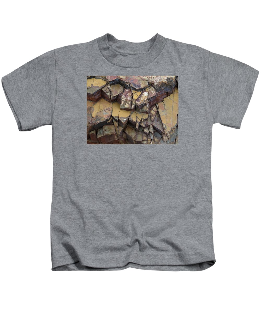 Abstract Kids T-Shirt featuring the photograph Fractured Layers by Bonnie See