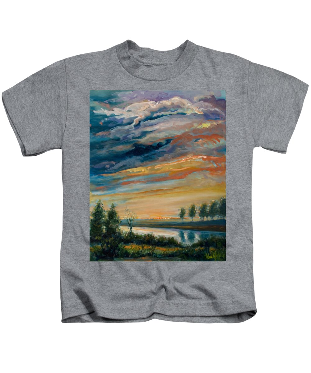 Water Kids T-Shirt featuring the painting France IIi by Rick Nederlof