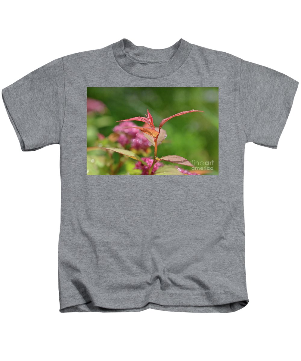 Closeup Kids T-Shirt featuring the photograph Fresh Colors Of Summer by Lori Gasbarre
