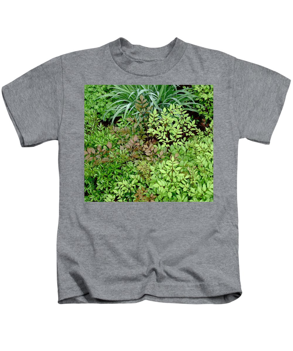 Foliage Kids T-Shirt featuring the photograph Fresh Greens by Bonnie See