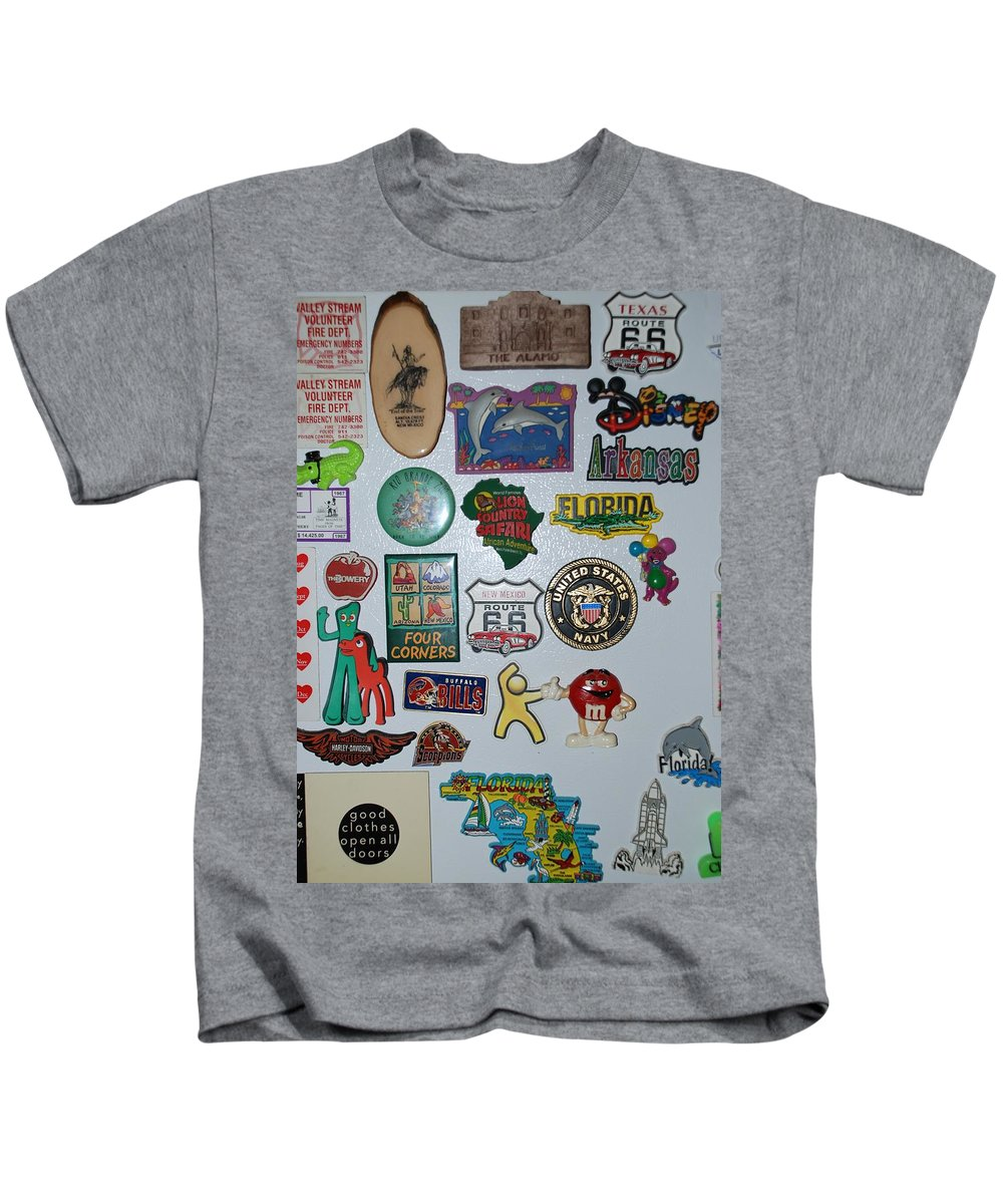 Refrigerator Kids T-Shirt featuring the photograph Fridge Magnets by Rob Hans