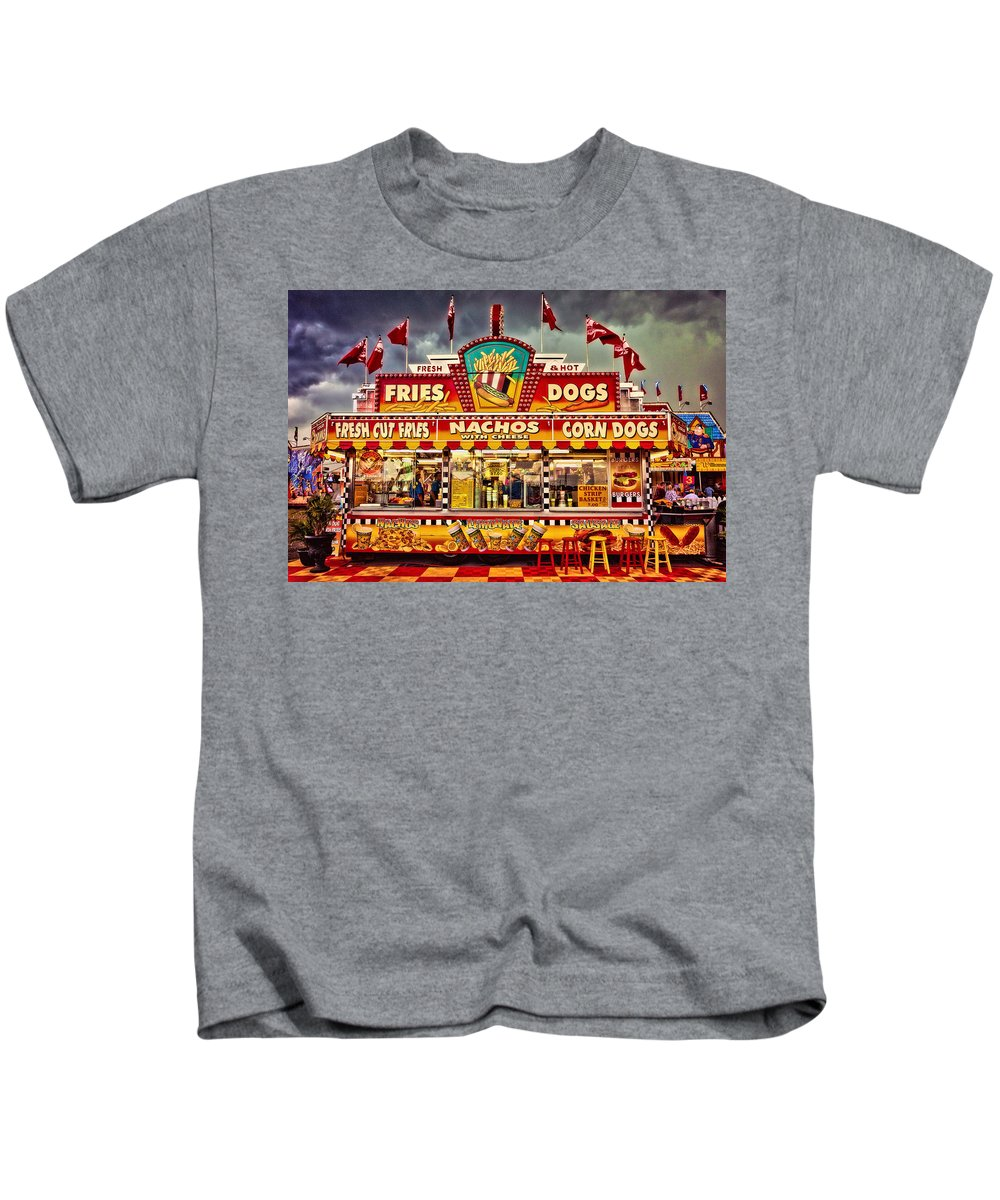 Carnival Kids T-Shirt featuring the photograph Fries Nachos Dogs by Diana Powell