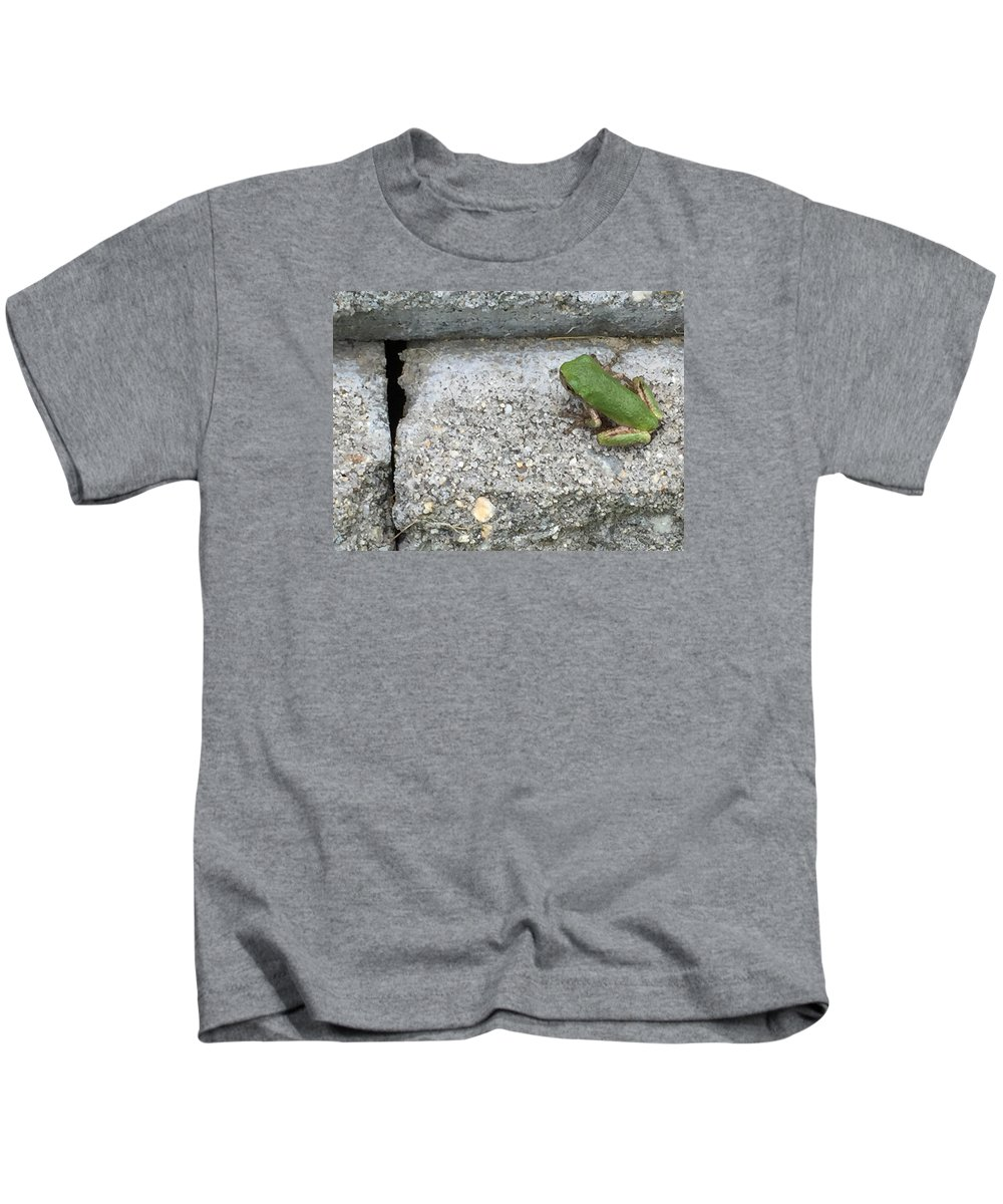 Frog Kids T-Shirt featuring the photograph Froggie by Lisa Cassinari
