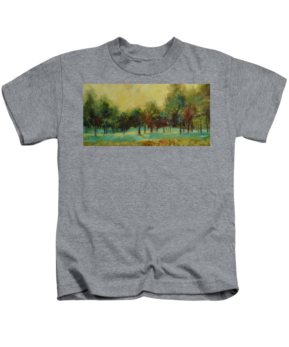 Pastoral Kids T-Shirt featuring the painting From The Other Side II by Ginger Concepcion