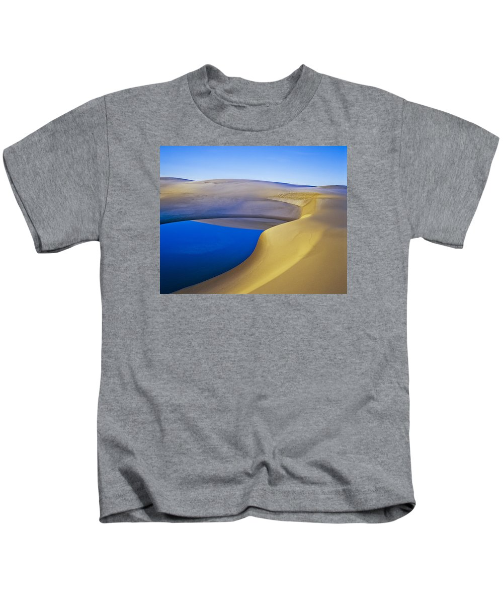 Coastal Dunes Kids T-Shirt featuring the photograph Frost And Ephemeral Pool by Robert Potts