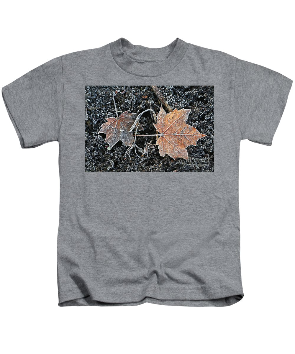 Landscape Kids T-Shirt featuring the photograph Frosted Tips by Marcel Stevahn