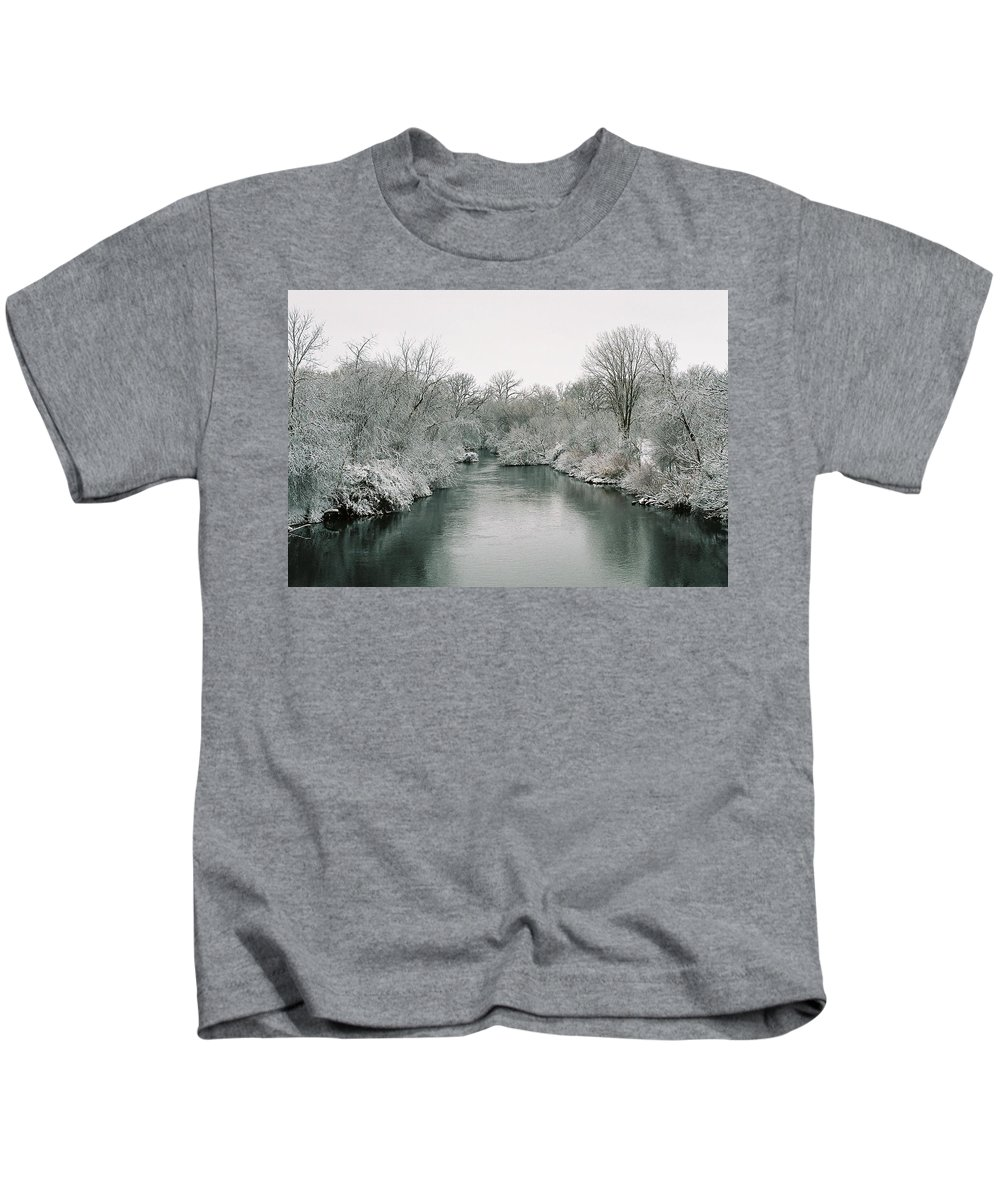 Frost Kids T-Shirt featuring the photograph Frosty River by Lauri Novak