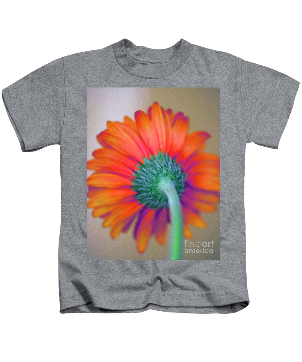 Gerbera Kids T-Shirt featuring the photograph Funky Gerbera by Amanda Barcon