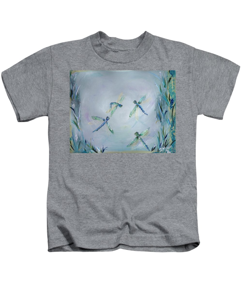 Dragonfly Kids T-Shirt featuring the painting Gairid Beatha by Jessica Mason