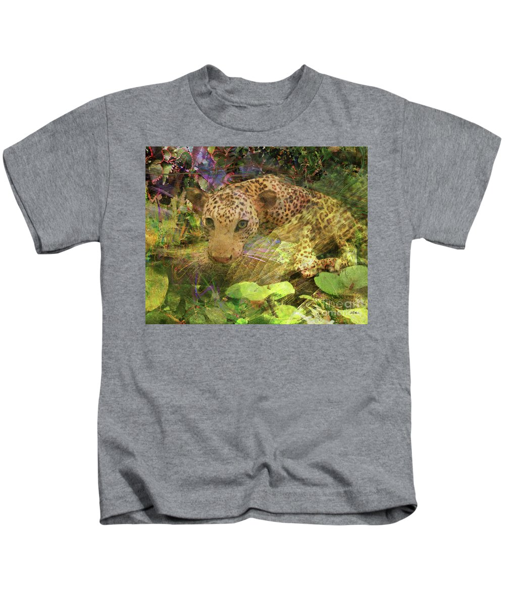 Game Spotting Kids T-Shirt featuring the digital art Game Spotting by John Beck