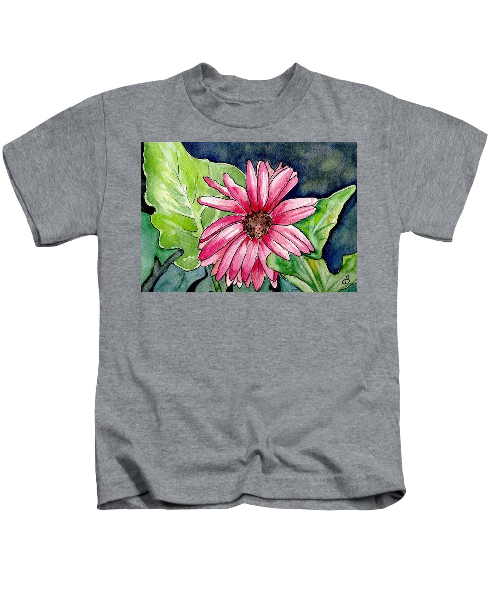 Flower Kids T-Shirt featuring the painting Garden Flower by Brenda Owen