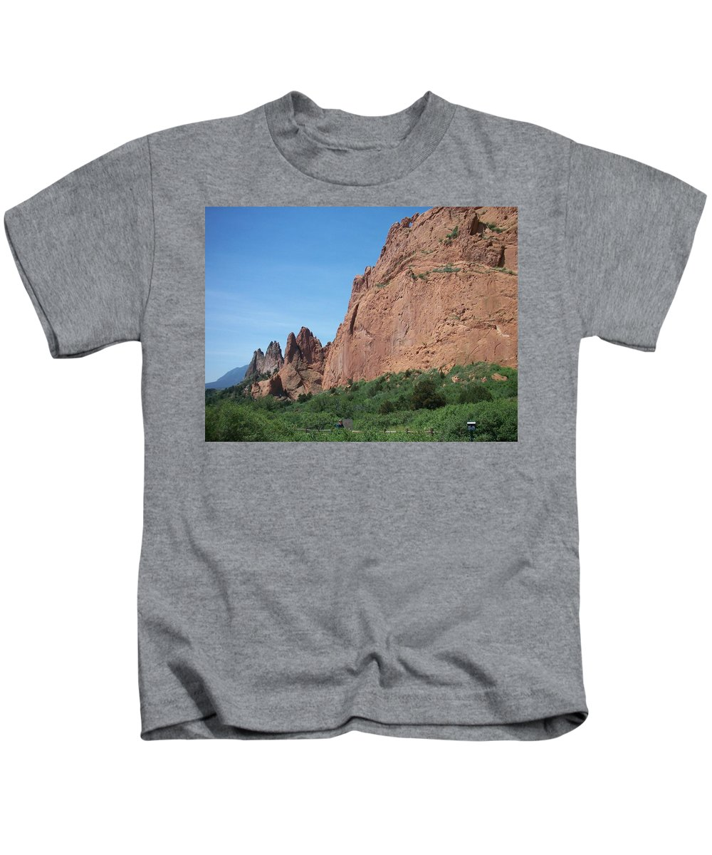 Colorado Kids T-Shirt featuring the photograph Garden Of The Gods by Anita Burgermeister