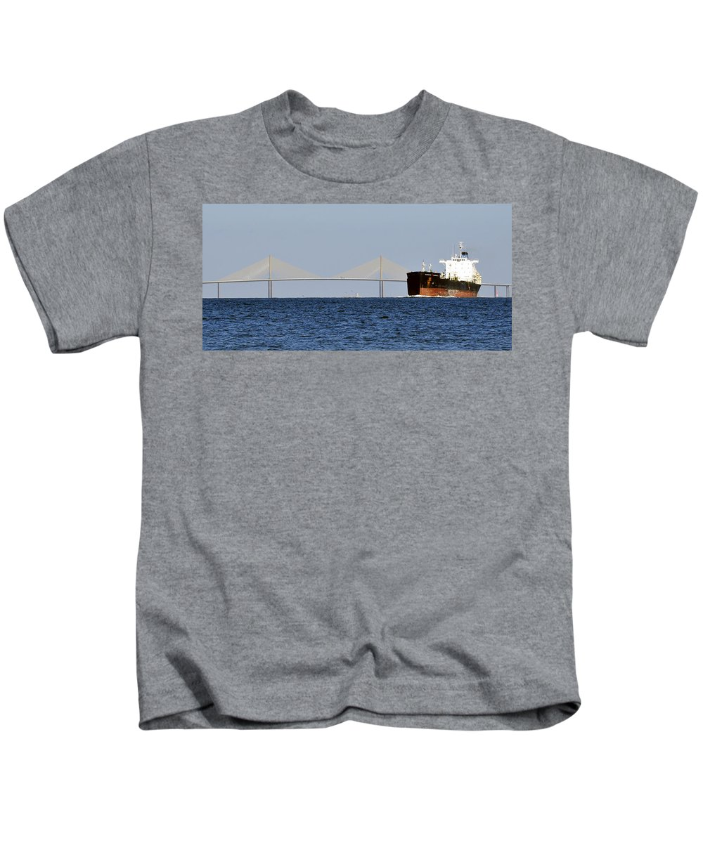 Fine Art Photography Kids T-Shirt featuring the photograph Gateway To Tampa Bay by David Lee Thompson
