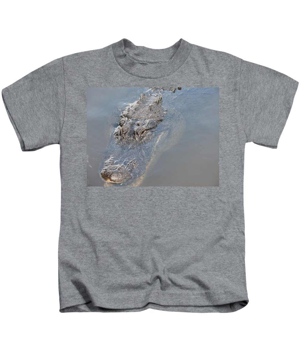 Alligator Kids T-Shirt featuring the photograph Gator IIi by Stacey May