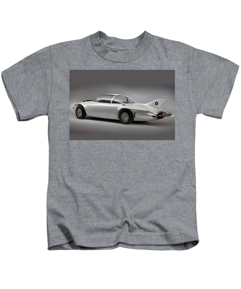 General Motors Firebird Ii Kids T-Shirt featuring the digital art General Motors Firebird II by Dorothy Binder