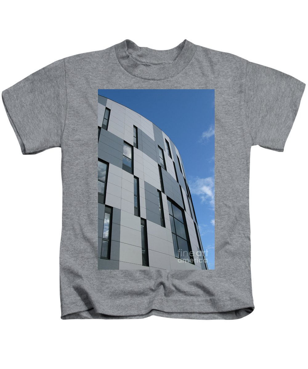 Architecture Kids T-Shirt featuring the photograph Geometric Intrigue by Ann Horn