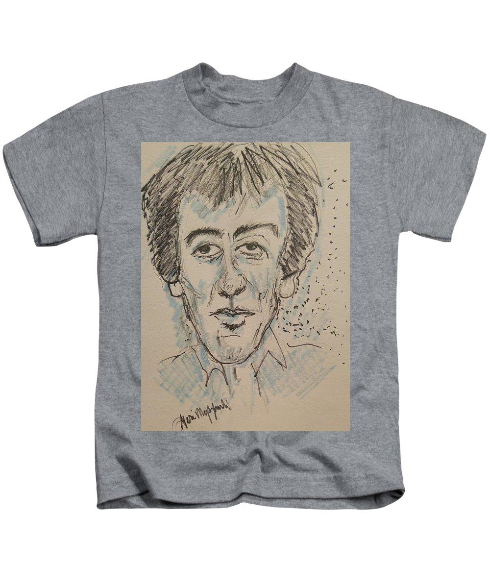 George Harrison Kids T-Shirt featuring the painting George Harrison by Geraldine Myszenski
