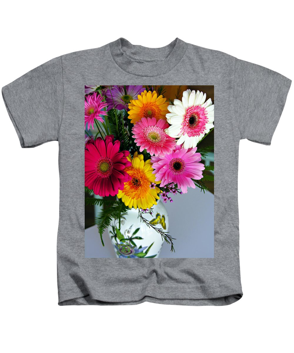 Flower Kids T-Shirt featuring the photograph Gerbera Daisy Bouquet by Marilyn Hunt