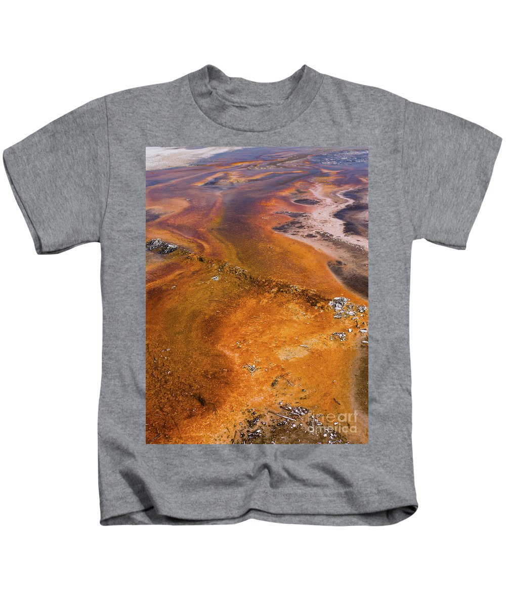 Wyoming Kids T-Shirt featuring the photograph Geyser Basin Springs 6 by Tracy Knauer