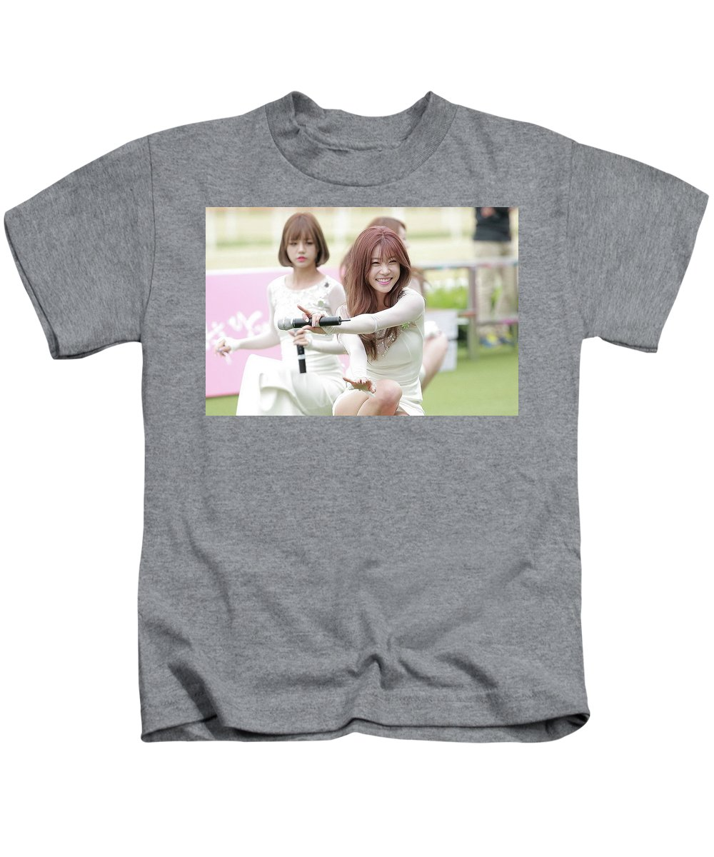 Girl's Day Kids T-Shirt featuring the digital art Girl's Day by Dorothy Binder