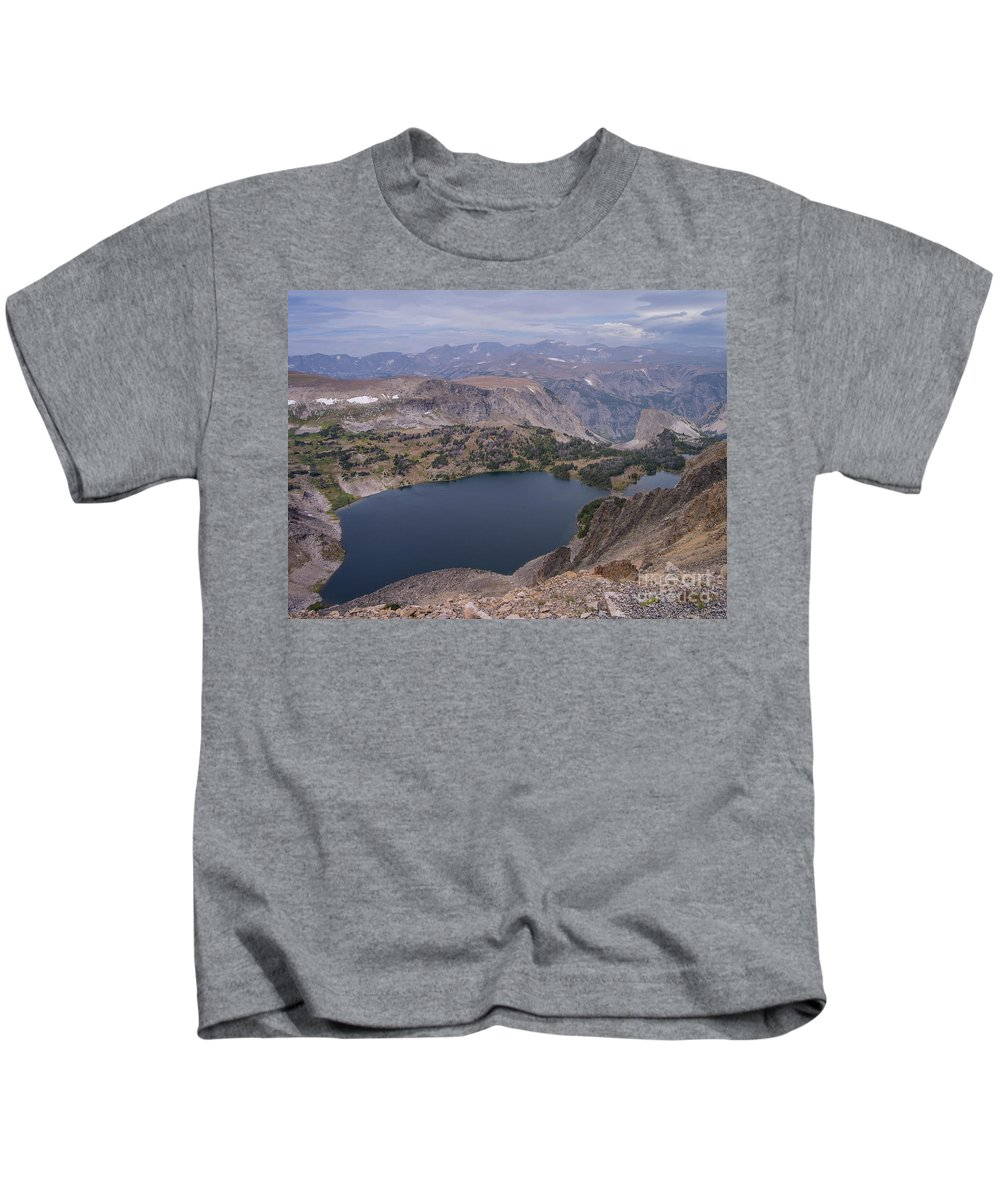 Montana Kids T-Shirt featuring the photograph Glacier Lake 3 by Tracy Knauer