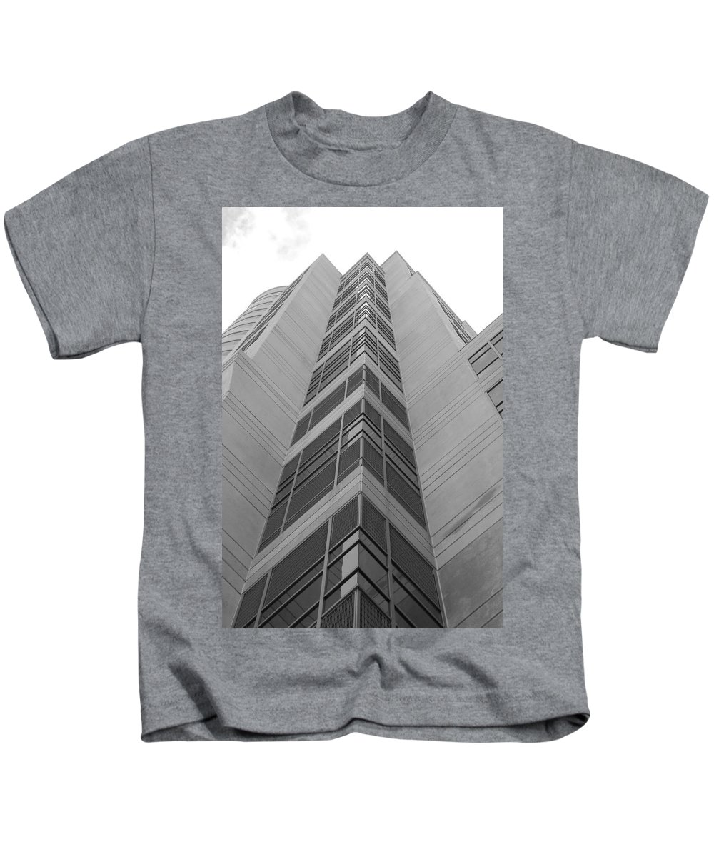 Architecture Kids T-Shirt featuring the photograph Glass Tower by Rob Hans