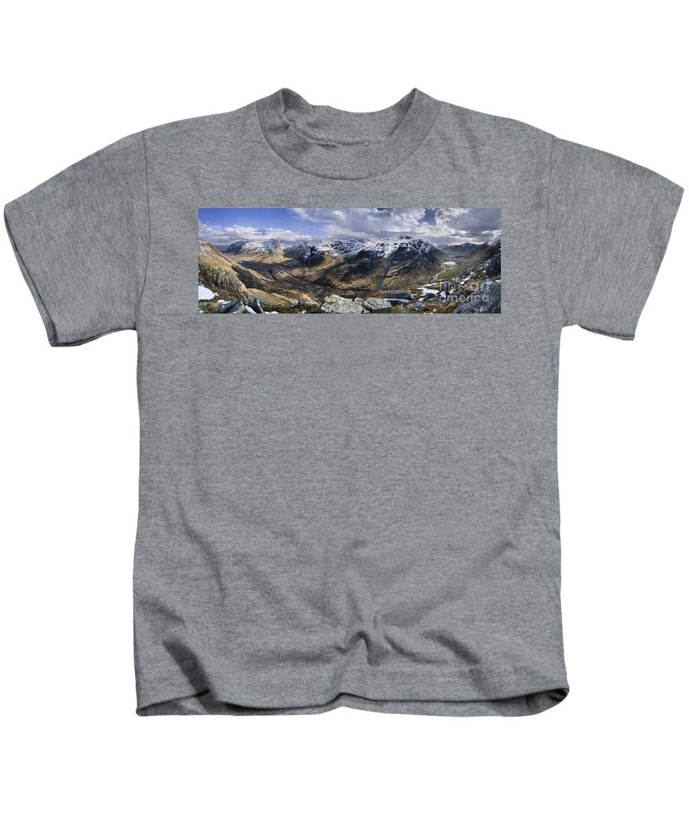 Glencoe Kids T-Shirt featuring the photograph Glencoe - Scotland by Rod McLean