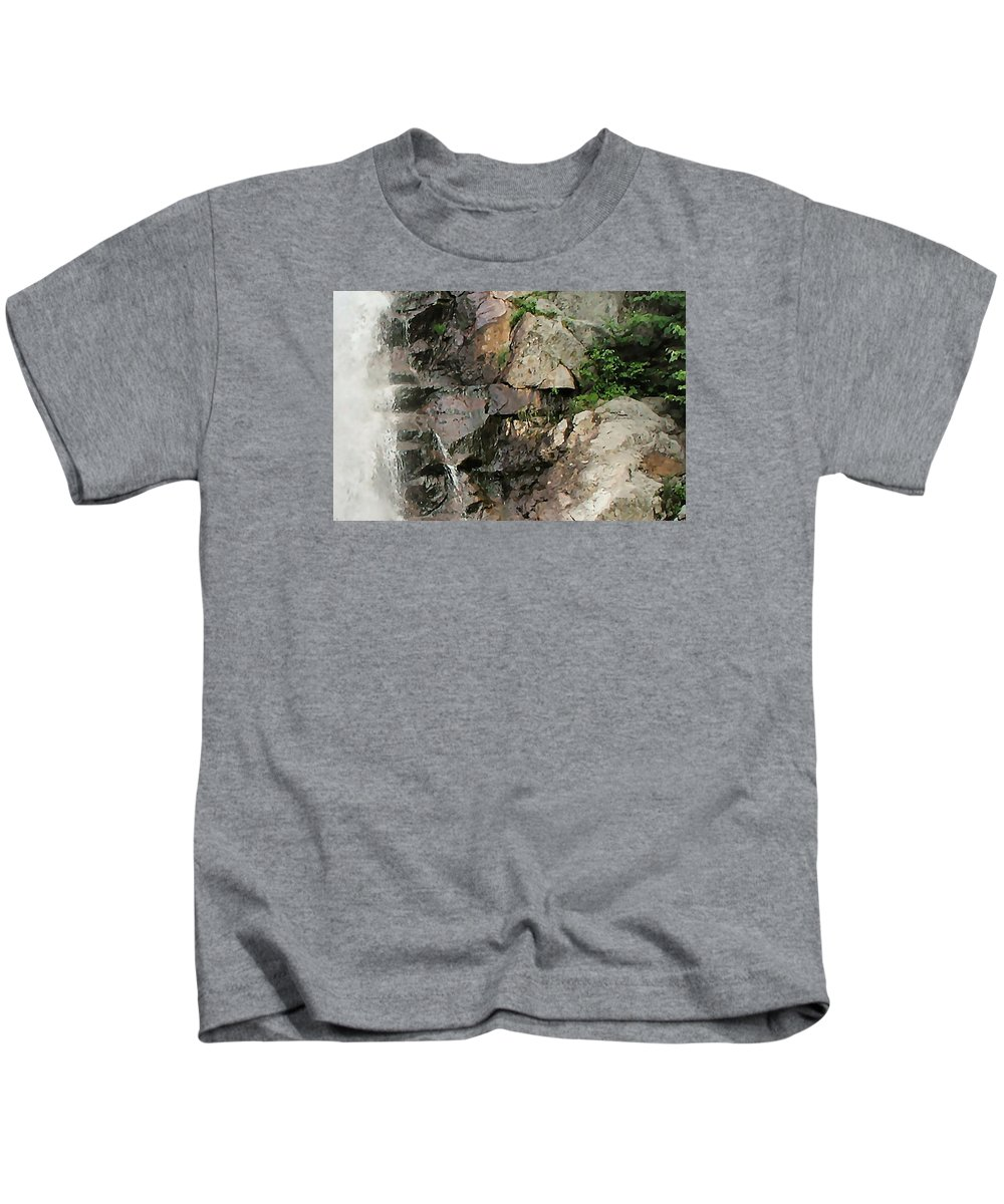 Waterfall Kids T-Shirt featuring the photograph Glen Falls Abstract by Dave Martsolf
