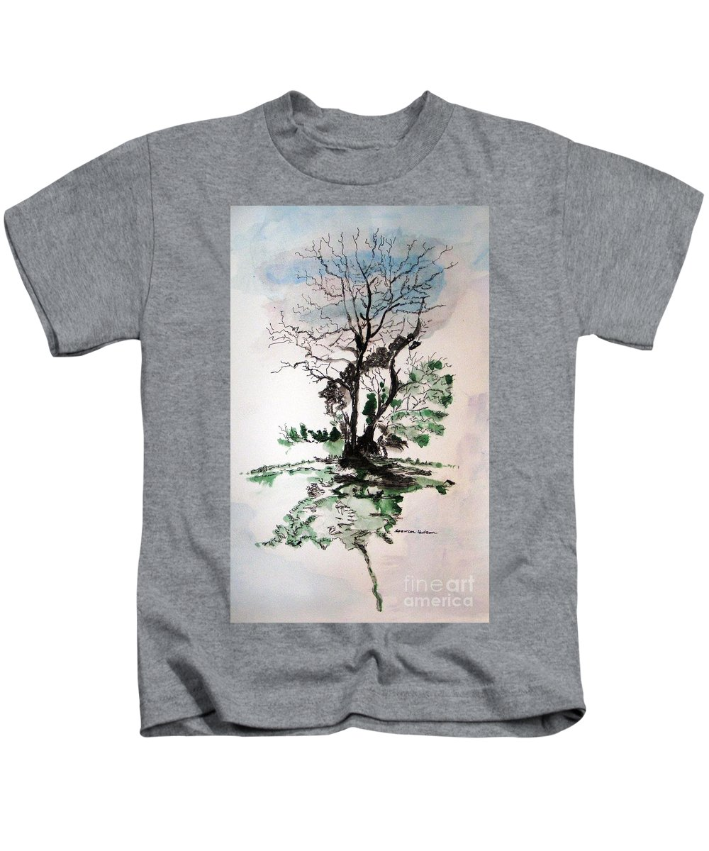 Landscape Kids T-Shirt featuring the painting Gnarly by Spencer Hudson
