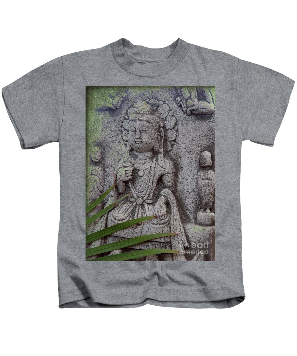 Shiva Kids T-Shirt featuring the photograph God Shiva by Susanne Van Hulst