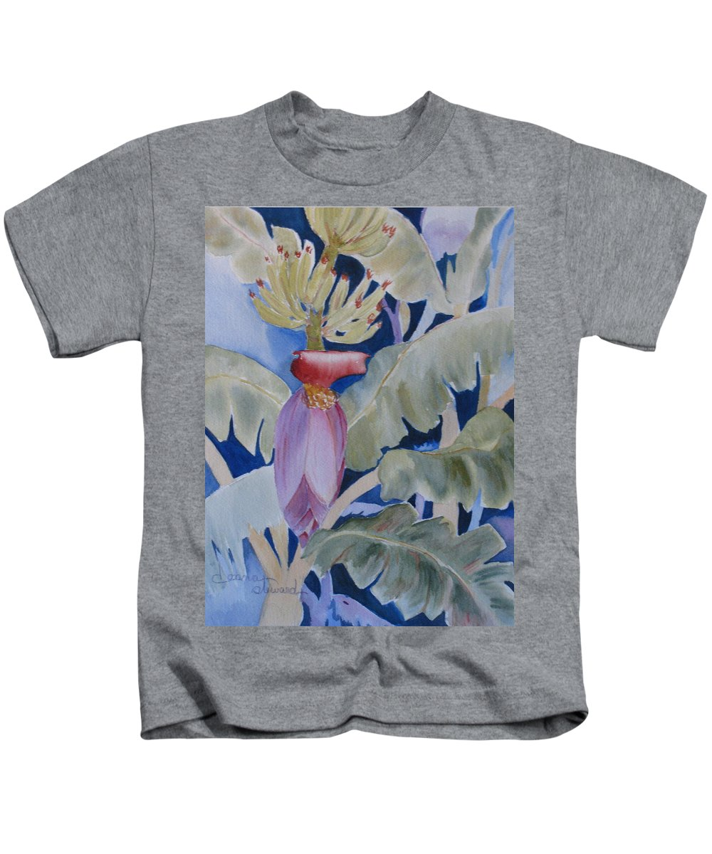 Bananas Kids T-Shirt featuring the painting Going Bananas 2 by Donna Steward