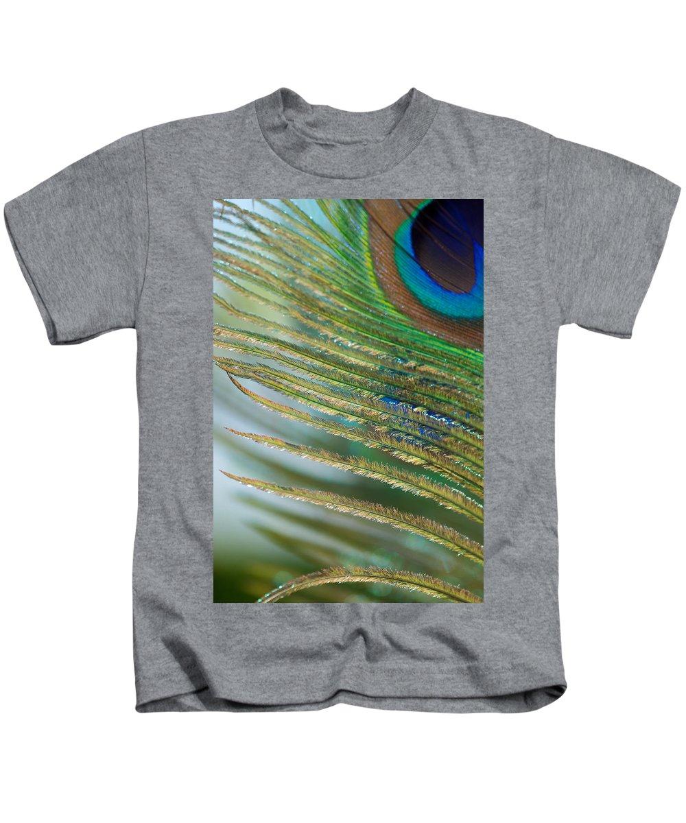 Golden Kids T-Shirt featuring the photograph Golden Feather by Lisa Knechtel