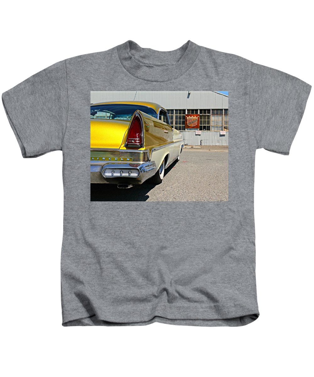 Kustom Kids T-Shirt featuring the photograph Golden Lincoln by Steve Natale