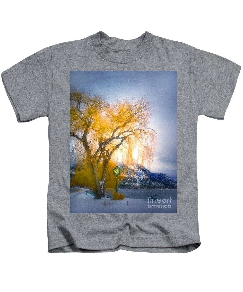 Tree Kids T-Shirt featuring the photograph Golden Time by Tara Turner