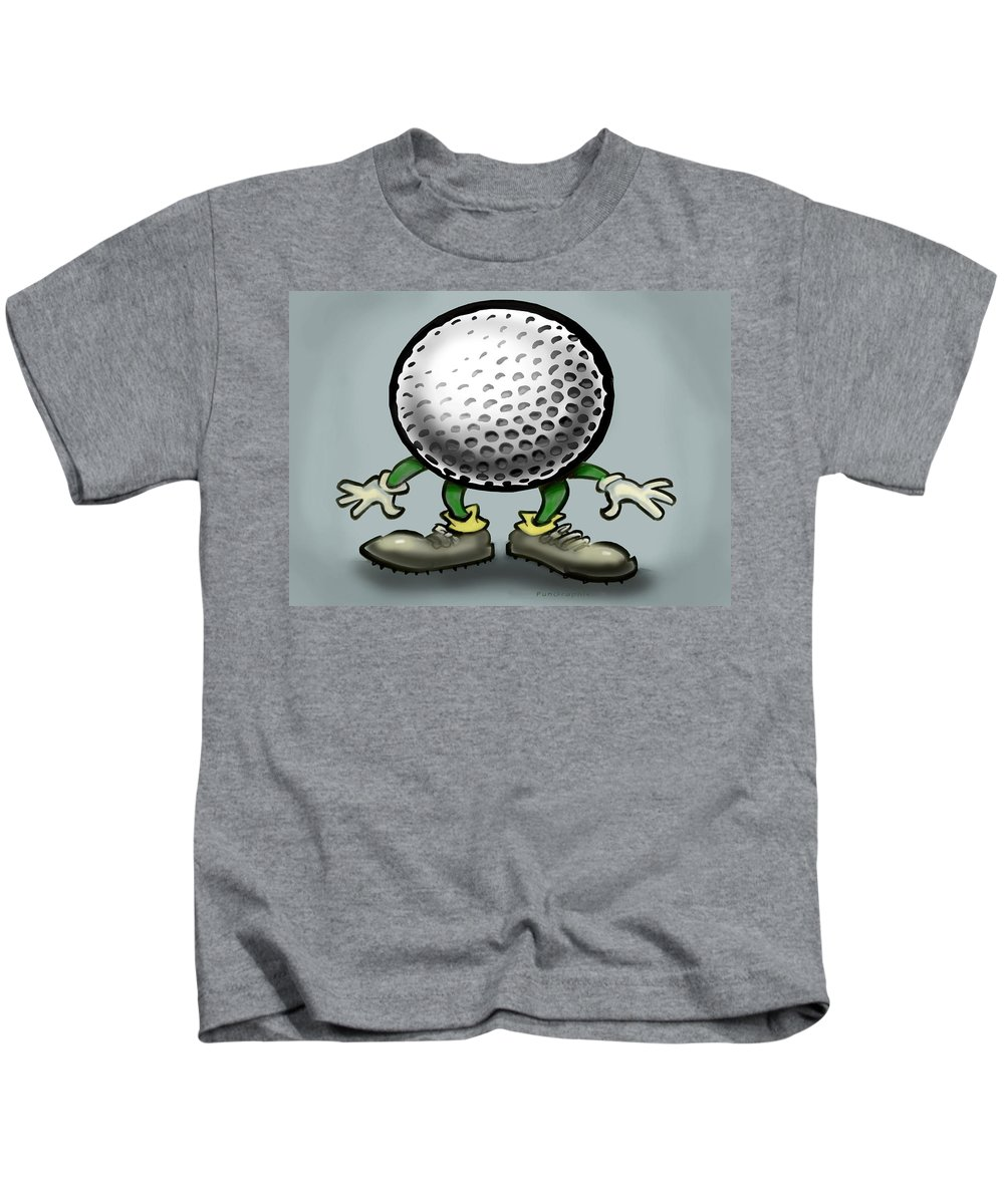 Golf Kids T-Shirt featuring the greeting card Golf by Kevin Middleton