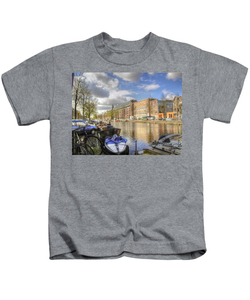 Amsterdam Kids T-Shirt featuring the photograph Good Morning Amsterdam by Dolly Sanchez