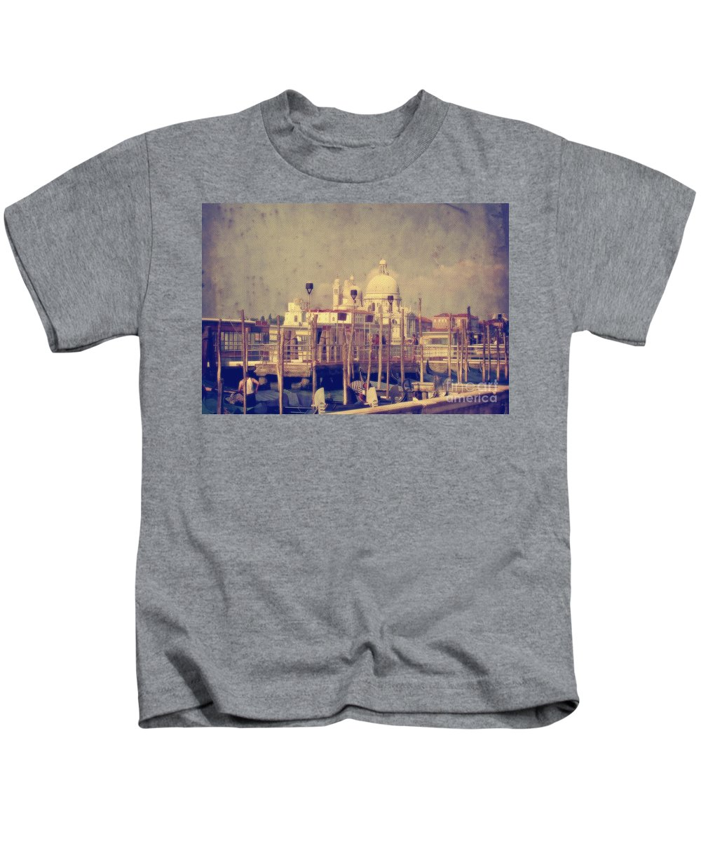 Venice Kids T-Shirt featuring the photograph Good Morning Venice by Lois Bryan