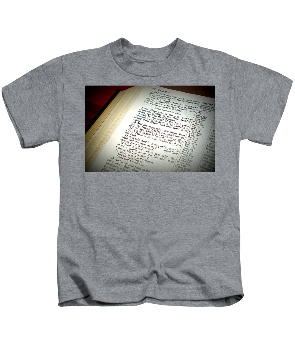 Christmas Kids T-Shirt featuring the photograph Good Tidings by Cricket Hackmann