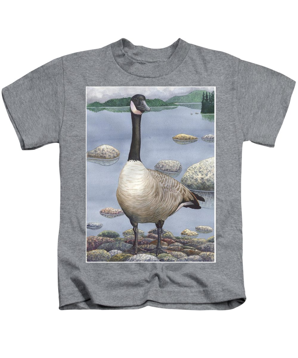 Goose Kids T-Shirt featuring the painting Goose by Catherine G McElroy