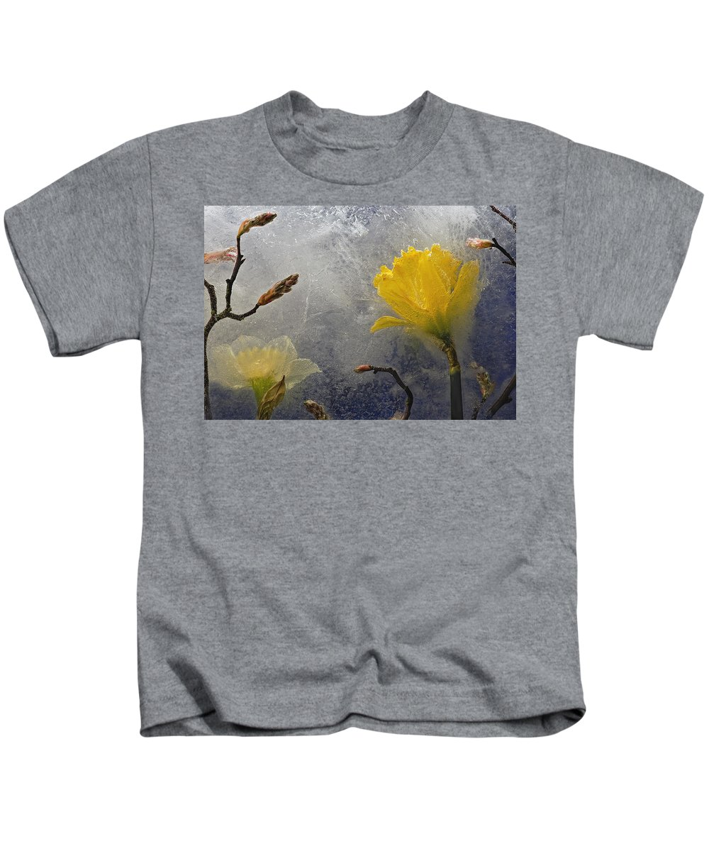 Floral Kids T-Shirt featuring the photograph Earth To Heaven by Carmen Moise