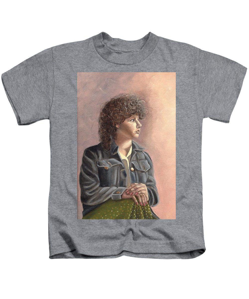 Kids T-Shirt featuring the painting Grace by Toni Berry