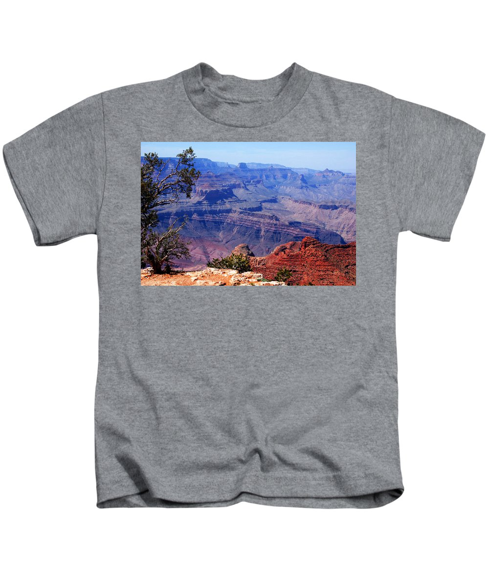 Photography Kids T-Shirt featuring the photograph Grand Canyon View by Susanne Van Hulst