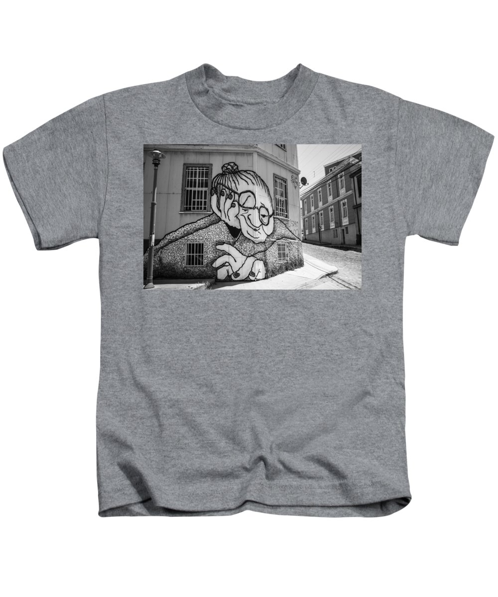 Chile Kids T-Shirt featuring the photograph Grandma by Robert Barsby