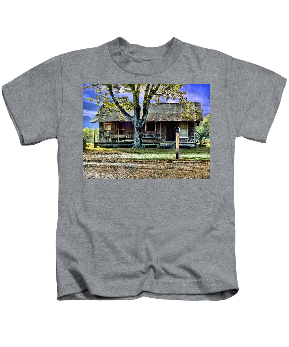 Old Kids T-Shirt featuring the photograph Grandmas House by Bob Welch