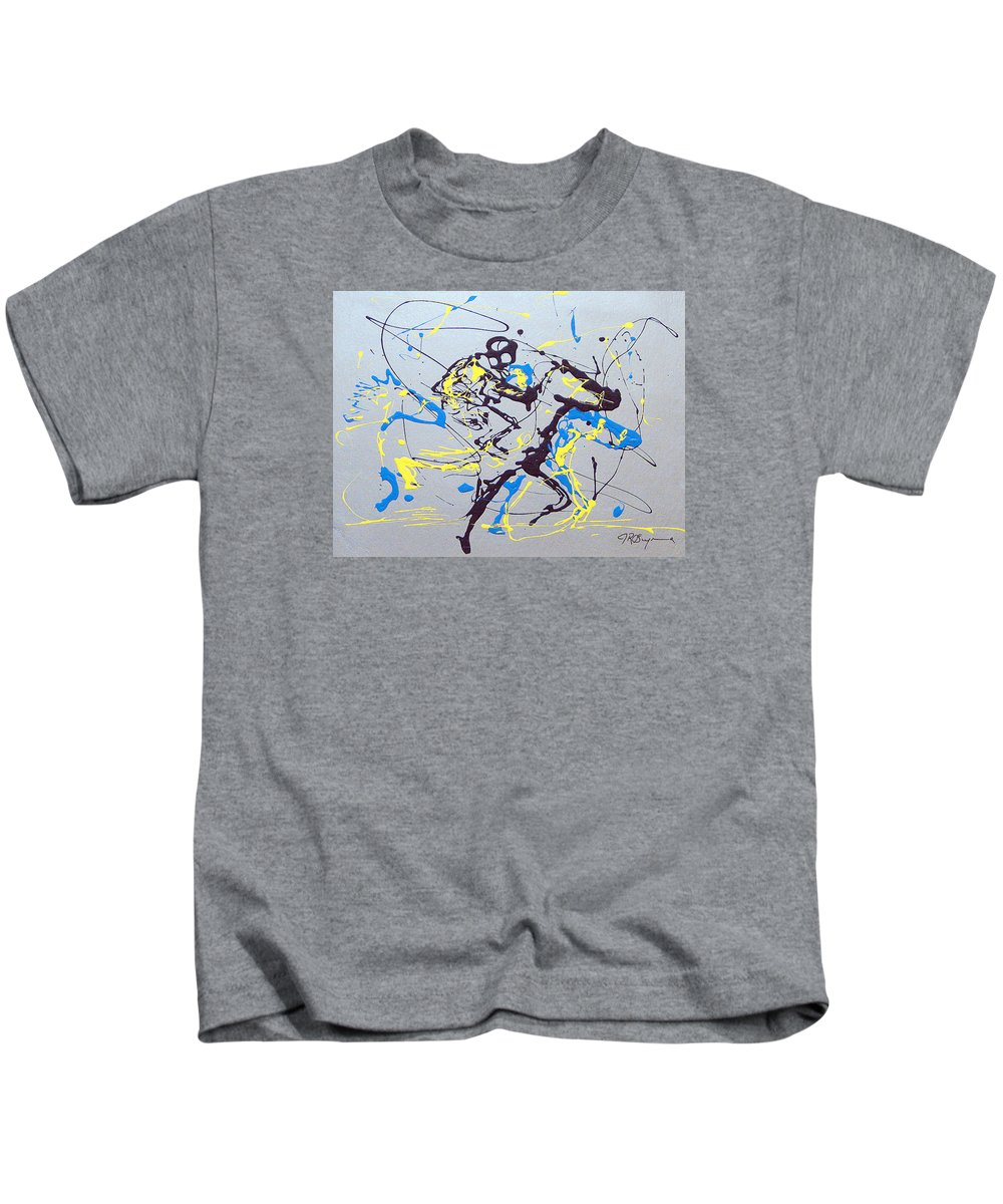 Kentucky Derby Kids T-Shirt featuring the painting Great Day In Kentucky by J R Seymour