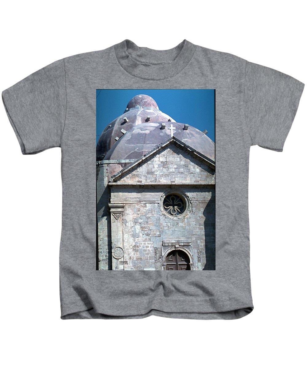 Greek Orthodox Church Kids T-Shirt featuring the photograph Greek Orthodox Church by Flavia Westerwelle