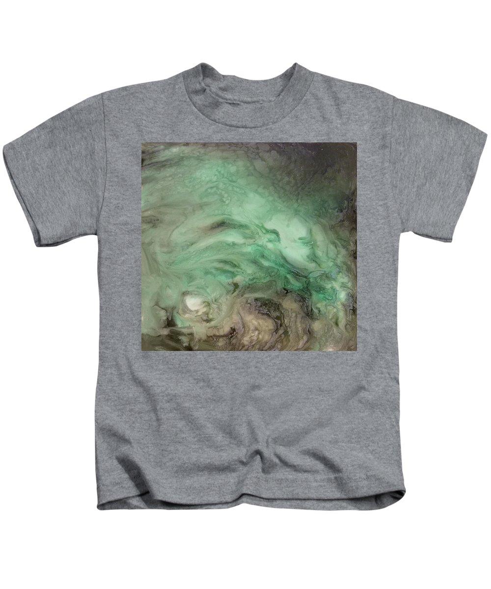 Green Kids T-Shirt featuring the mixed media Green Texture by Daniel Gutierrez